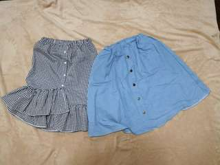 2 pcs midi skirt (SHOES NOT INCLUDED)