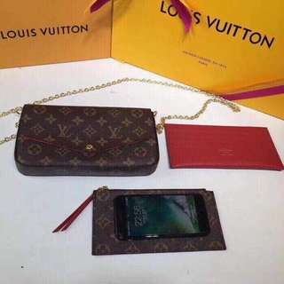 Lv bag with wallet premium quality