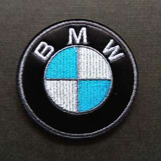 BMW Logo Faux Leather Sew on / Glue On Patch