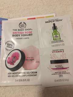 包郵The body shop 身體保濕輕爽潤膚體驗sample