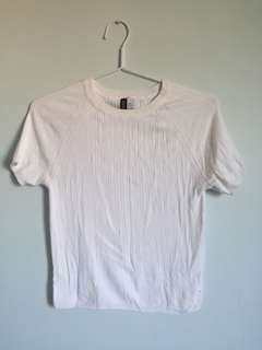 H&M White Tight Shirt