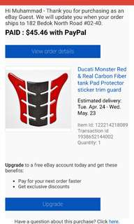 Ducati Monster 796/696/795/1100 tank pad