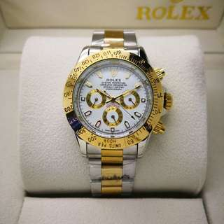 ROLEX DAYTONA #FULLY AUTOMATIC #NO BATTERY #DAY-DATE SHOWING #24HOUR #DOUBLE LOCK CLIP. Free box  Free postage
