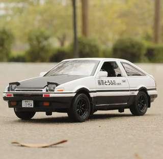 (頭文字D)AE86合金車模型車