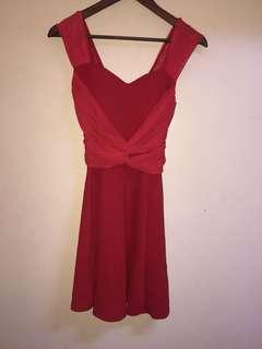 Orig apostrophe red dress