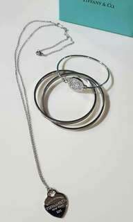 2 AUTHENTIC MK BANGLES AND 1 HIGHEND TIFFANY NECKLACE