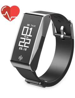 (148) Fitness Tracker with Heart Rate Monitor, Fuleadture IP67 Waterproof Fitness Tracker Watch with Blood Pressure Monitor, Smart Bracelet with Sleep Monitor, Calorie Counter, Call Reminding for Smartphone