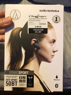 Audio technica ATH-SPORT50BT wireless earphones