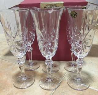 Bohemia crystal glasses x 6 pcs