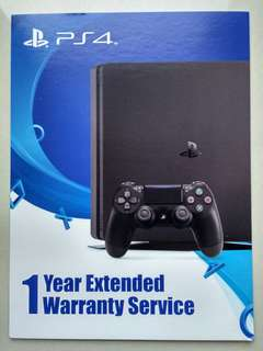 1 year warranty extended for PS4