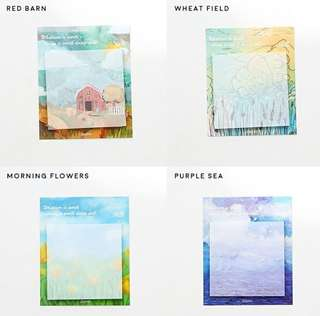 Scenery Painting Sticky Notes Post It