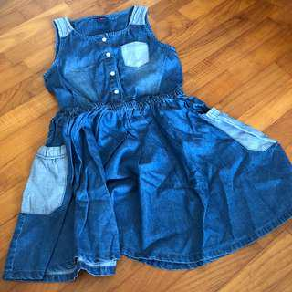 4T NEW Denim chambray dress girls