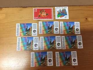 包郵 $1.3 本港可寄信郵票