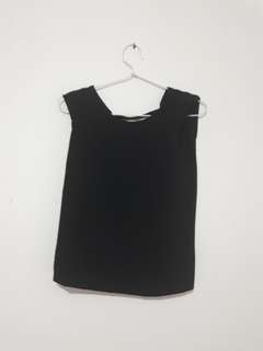 ZARA Black Backless Blouse