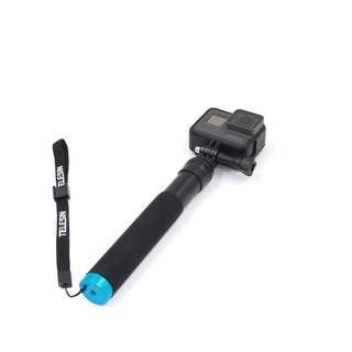 857. TELESIN Aluminum Alloy Handheld Extendable Pocket Purse Size Monopod Selfie Stick with Mini Tripod & Tripod Mount Gopro camera - Black