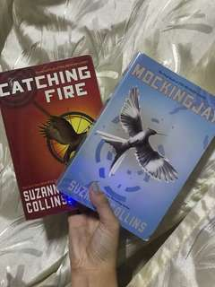 Catching Fire and Mockingjay (hunger games' 2nd and 3rd book)