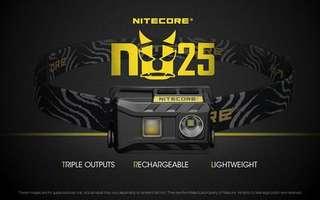 Nitecore NU25 360 Lumens headlamp 掛頭 電筒