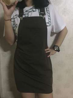 Olive Overall Skirt