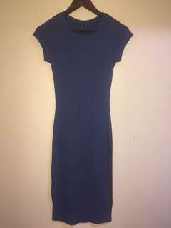 Orig cotton on bodycon type dress blue