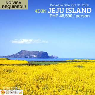 4D3N Autumn in Jeju Island (All-in Tour Package)