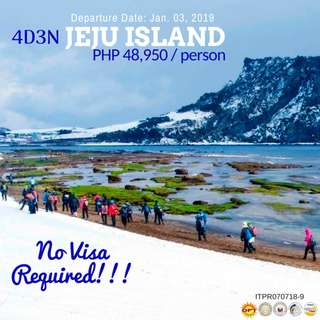 4D3N Winter in Jeju Island (All-in Tour Package)