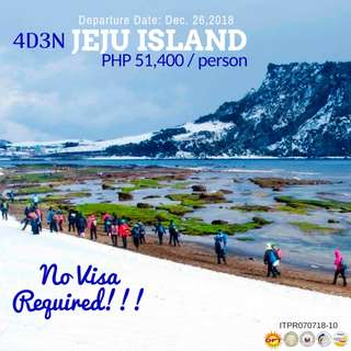Winter in Jeju Island (4D3N All-in Tour Package!!!)