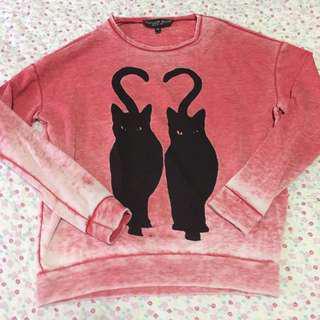 Topshop Petite Ombré Pink Sweater