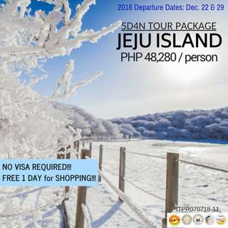 5D4N Winter in Jeju Island (No Visa Required!!!)