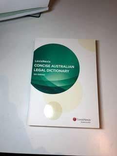 LexisNexis Concise Australian Legal Dictionary 5th Exition