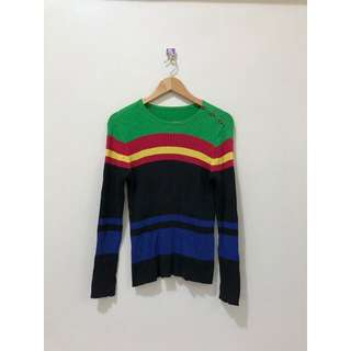 TRI-COLORED SWEATER