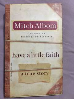 Book : Have a little faith by Mitch Albom