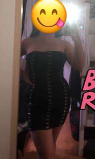 Rent ONLY Buckle Black Mini Dress