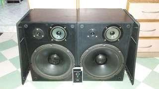"Vintage Altec Lansing 203 Speakers (Made In USA) Built-In 12"" Woofers"