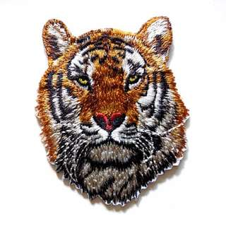 Tiger Iron On Patch Tiger Iron On Patch