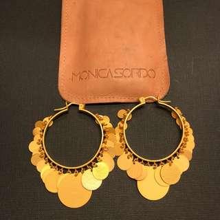金色圓形大耳環 Monica Sordo gold hoop earrings