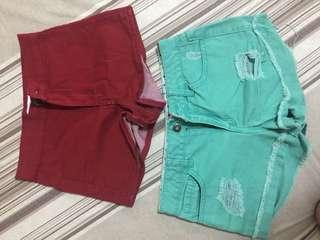 Forever21 shorts (2 for 200)