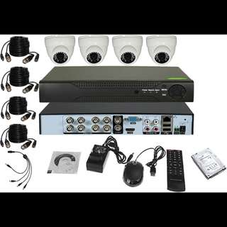 4 CCTV Camera with Installation