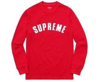 [Looking For] Size L Supreme Arc Logo Long Sleeve Tee