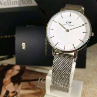 Daniel Wellington Classic Petite Sterling White Faced - 32mm for Women