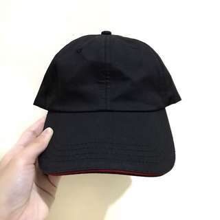 NAVA Black with Red line Cap