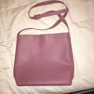 Never used-dusty pink faux leather handbag