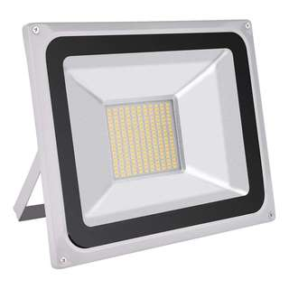 859. 100W LED Flood Light, Outdoor Spotlight, Daylight White(6000-6500K), Waterproof, AC 200-240V, Security Lights, Super Bright, 7000LM [Energy Class A+]