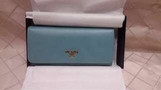 Prada Teal Wallet