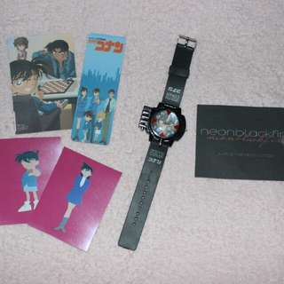 SUPER SALE DETECTIVE CONAN WATCH WITH LASER *no batteries but laser is still working *perfect for your collection *with freebies  320 php only