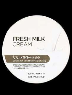 The face shop Daegwallyeong fresh milk cream