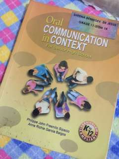 Shs book oral communication