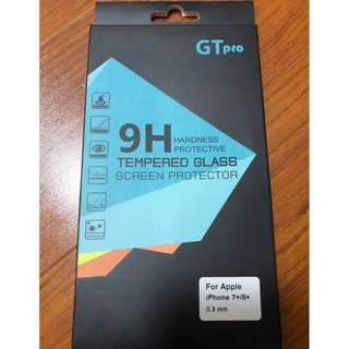 (IPHONE 7+/8+) 全新GTpro Tempered Glass Screen Protector 9H玻璃貼