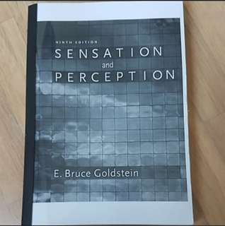 James cook University PY3110 Sensing and Interpreting The World: A Psychological Perspective