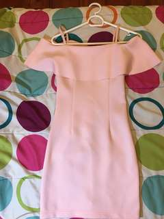 Neoprene baby pink dress