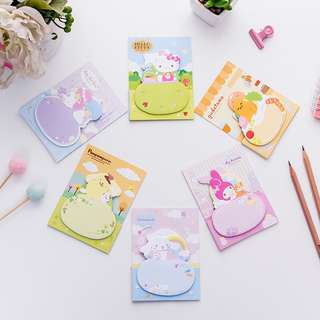 🚚 SANRIO STICKY MEMO PAD/ POST IT NOTES / STICK MARKER @ $1.50 PER BOOKLET OR ALL6 DESIGNS FOR $7 ONLY!!! READY STOCKS!